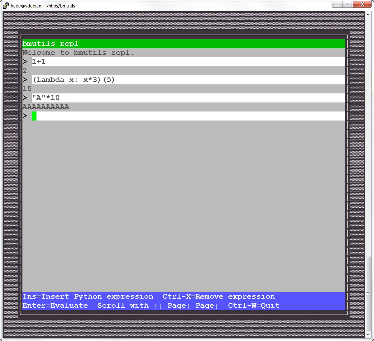 bmutils-repl screenshot