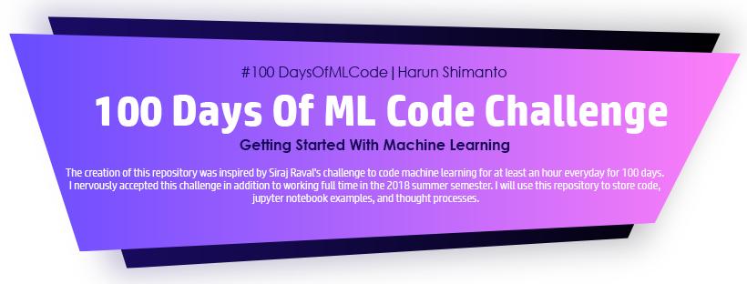 100 Days of ML Code challenge
