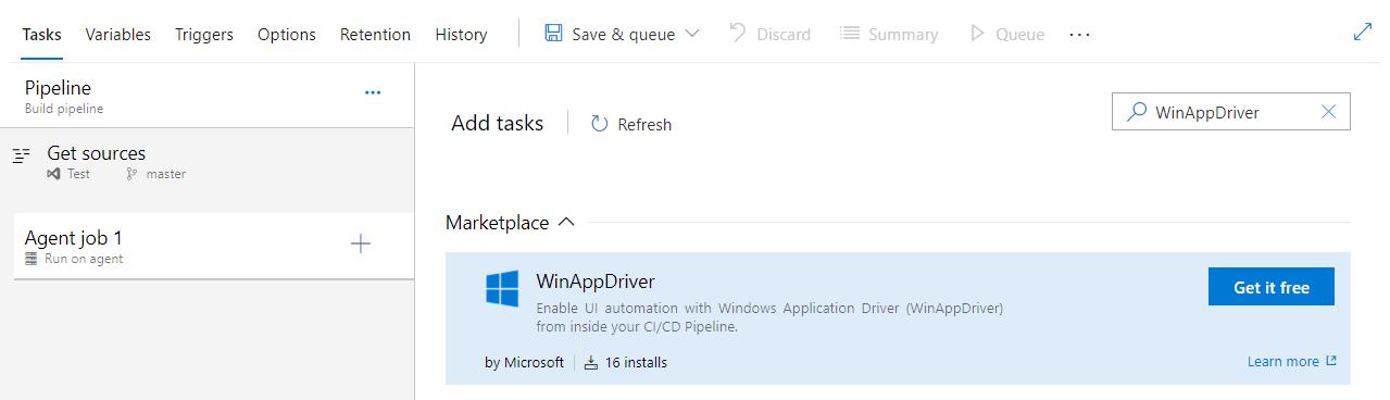 WinAppDriver in CI with Azure Pipelines · microsoft/WinAppDriver