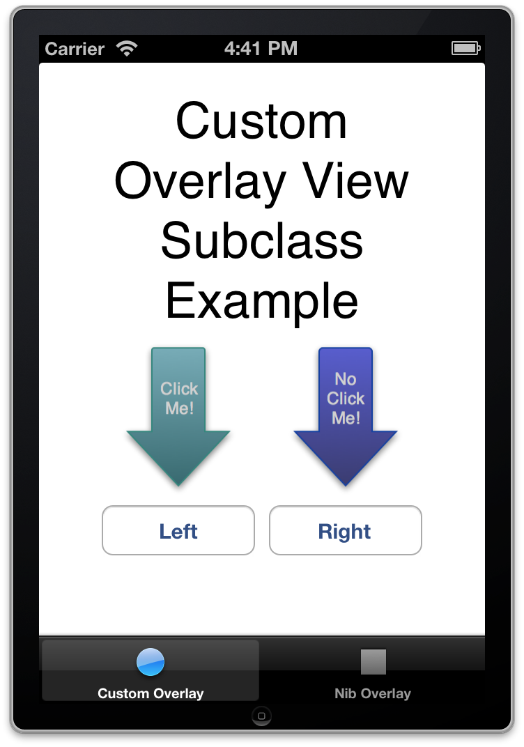 Example Class Based Overlay View.