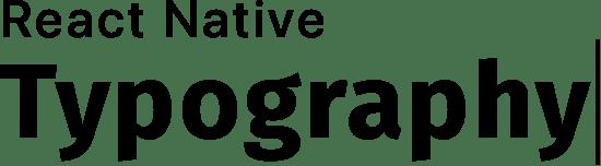React Native typography