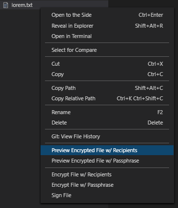 Explorer context menu