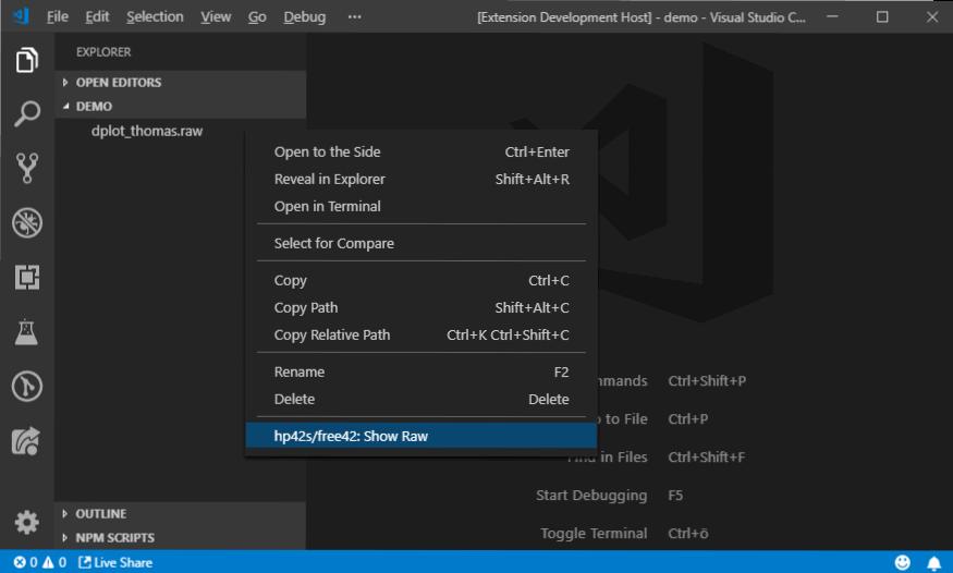 Explorer context menu