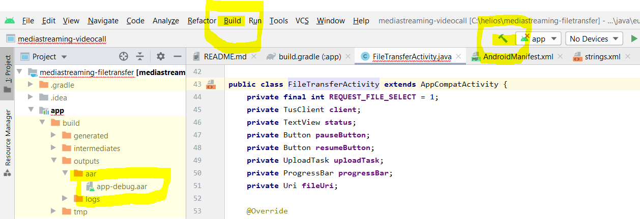 FileTransfer build