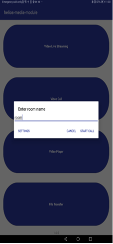 VideoCall Room Name