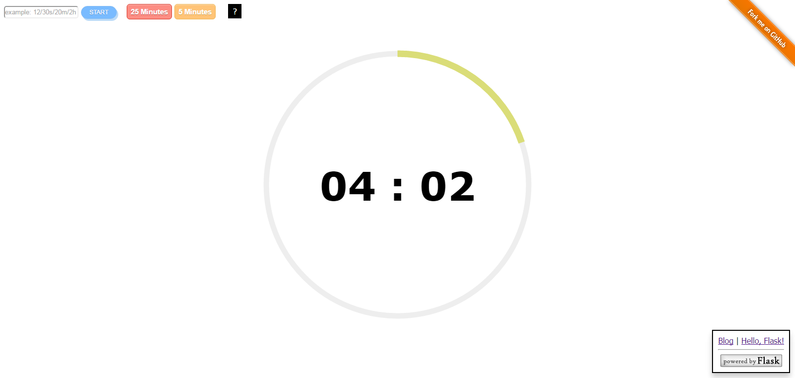 GitHub - helloflask/timer: A simple countdown timer made with Flask