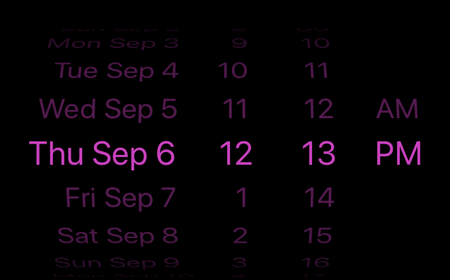 react native datepicker text color background color ios