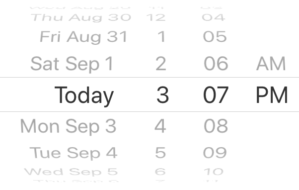 React native date time picker