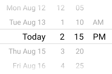Date picker minute interval Android