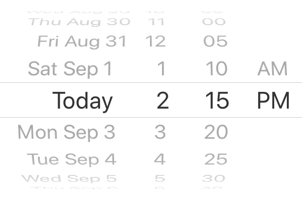 Date picker minute interval IOS
