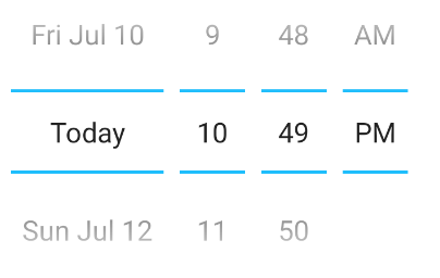 Datepicker android native variant