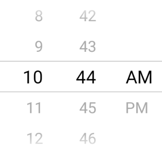 react native time picker android