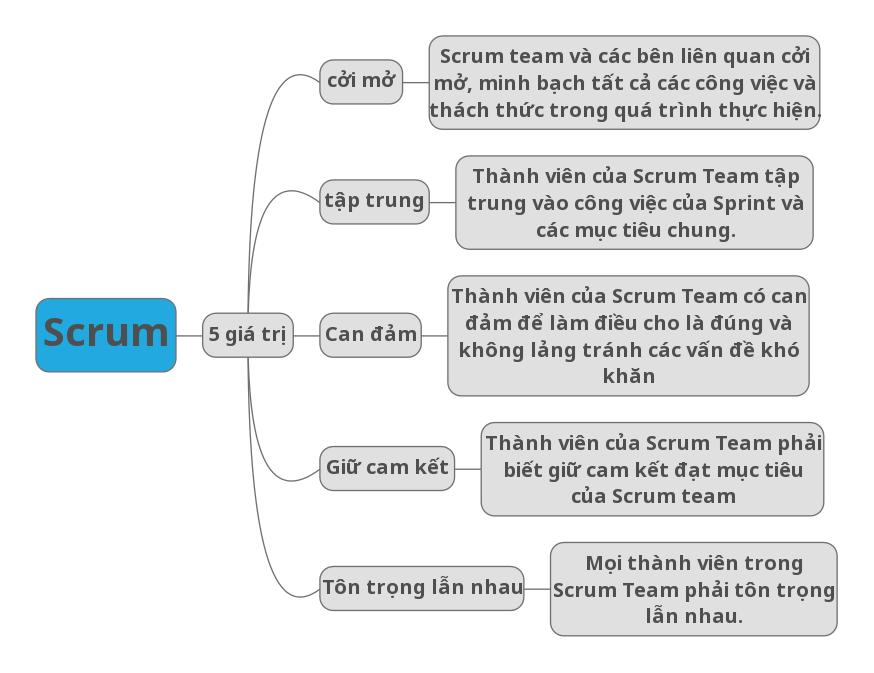 5 giá trị của Scrum