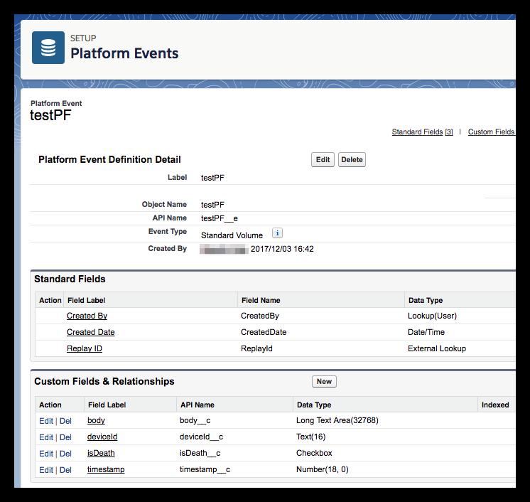 Platform Event