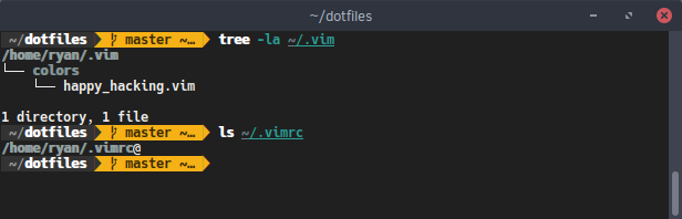 Vim dotfiles in Home