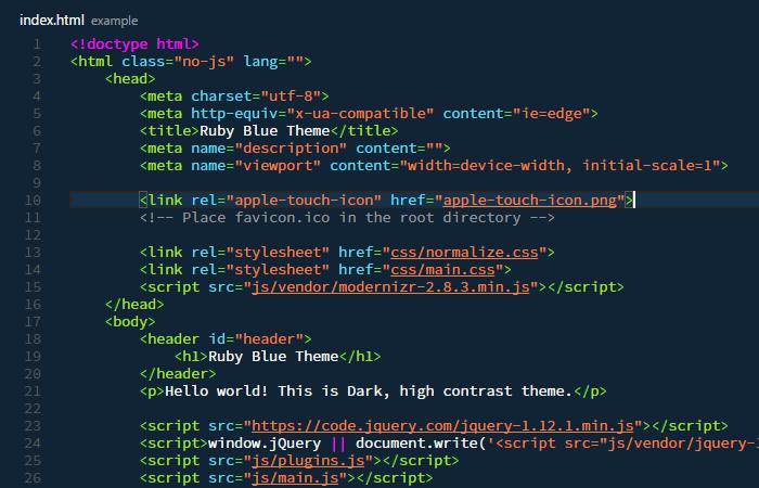 RubyBlue Theme - Visual Studio Marketplace