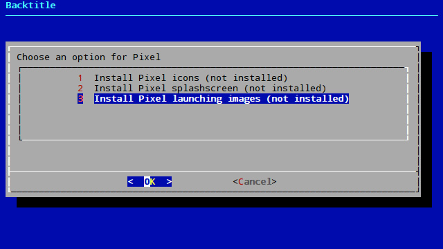 Install Pixel launching images