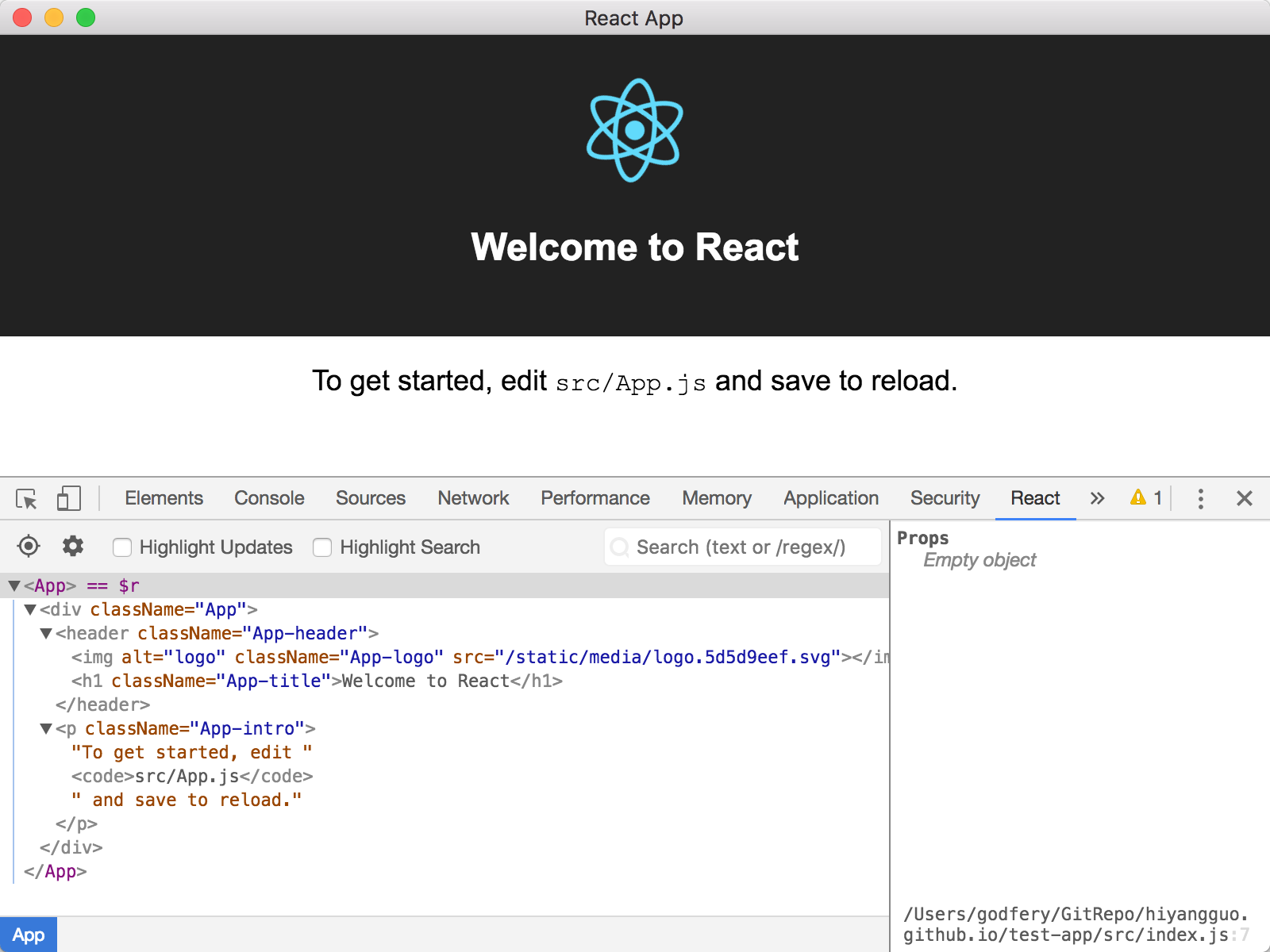 安装好 react-developer-tools的 截图