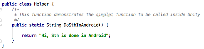 Android Static function