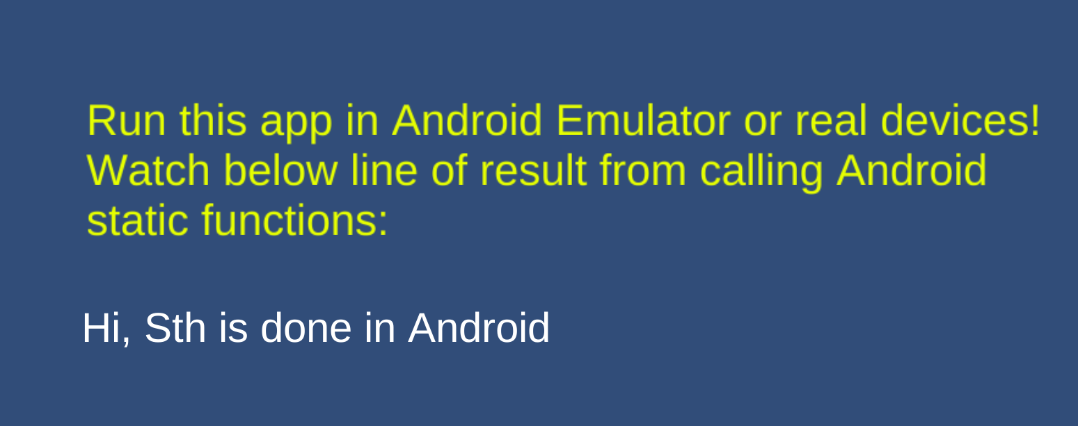 Call Android code in Unity3D