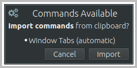 Import Command Notification