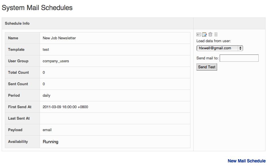 Mail Schedule