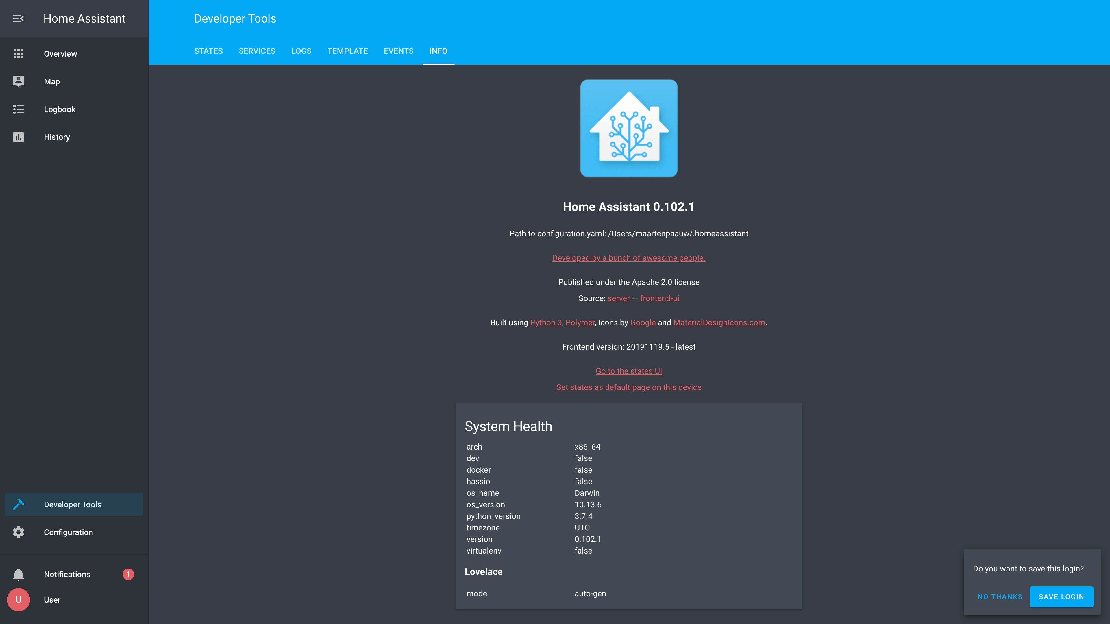 Theme - Developer Tools