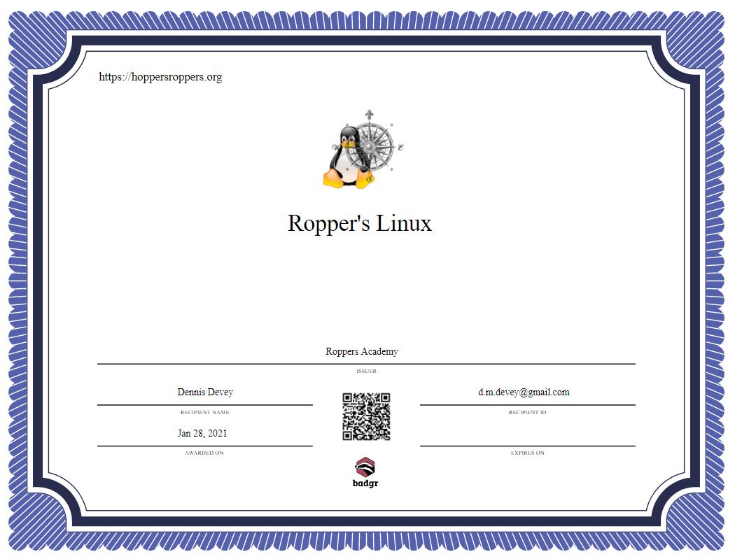 Ropper's Linux Basics