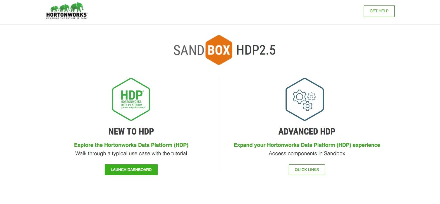 The sandbox splash page.