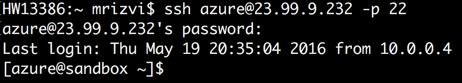 Mac Terminal SSH Azure 1