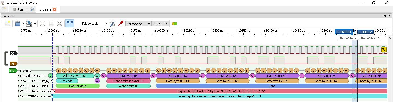 STM32 - I2C EEPROM 24C01C page write