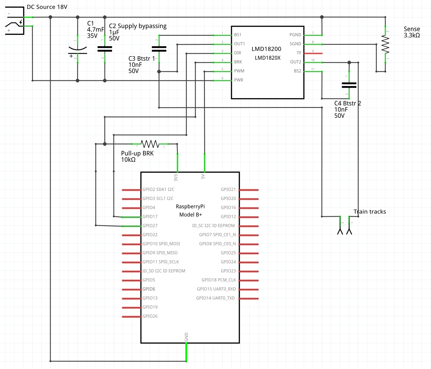 Hsanjuan Dccpi A Simple Easy To Use Nmra Digital Command Control Using Wiringpi In Python Booster Schematics