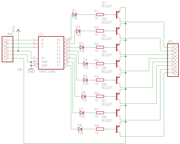 Row driver schematic