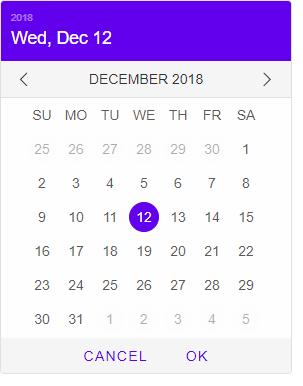 Screenshot of smart-calendar, using the Material theme