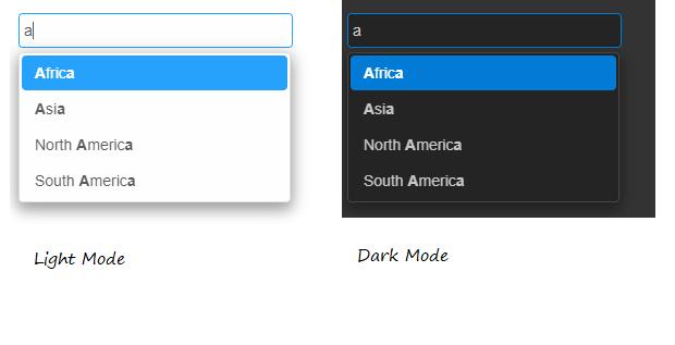 Screenshot of smart-input, using the Material theme
