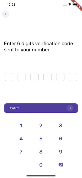 Flutter Phone Number Authentication