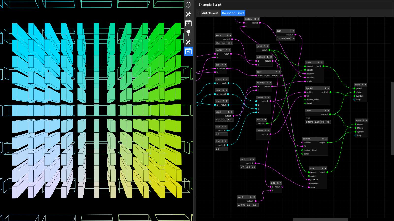 live graphics (visual script)