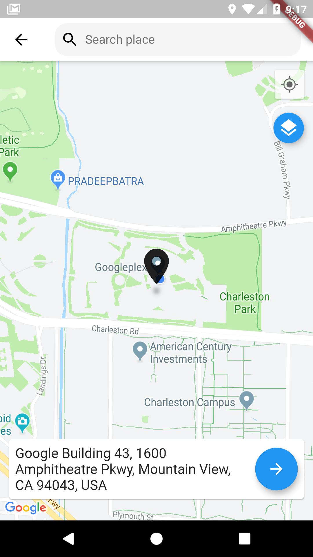 Flutter Map Location Picker