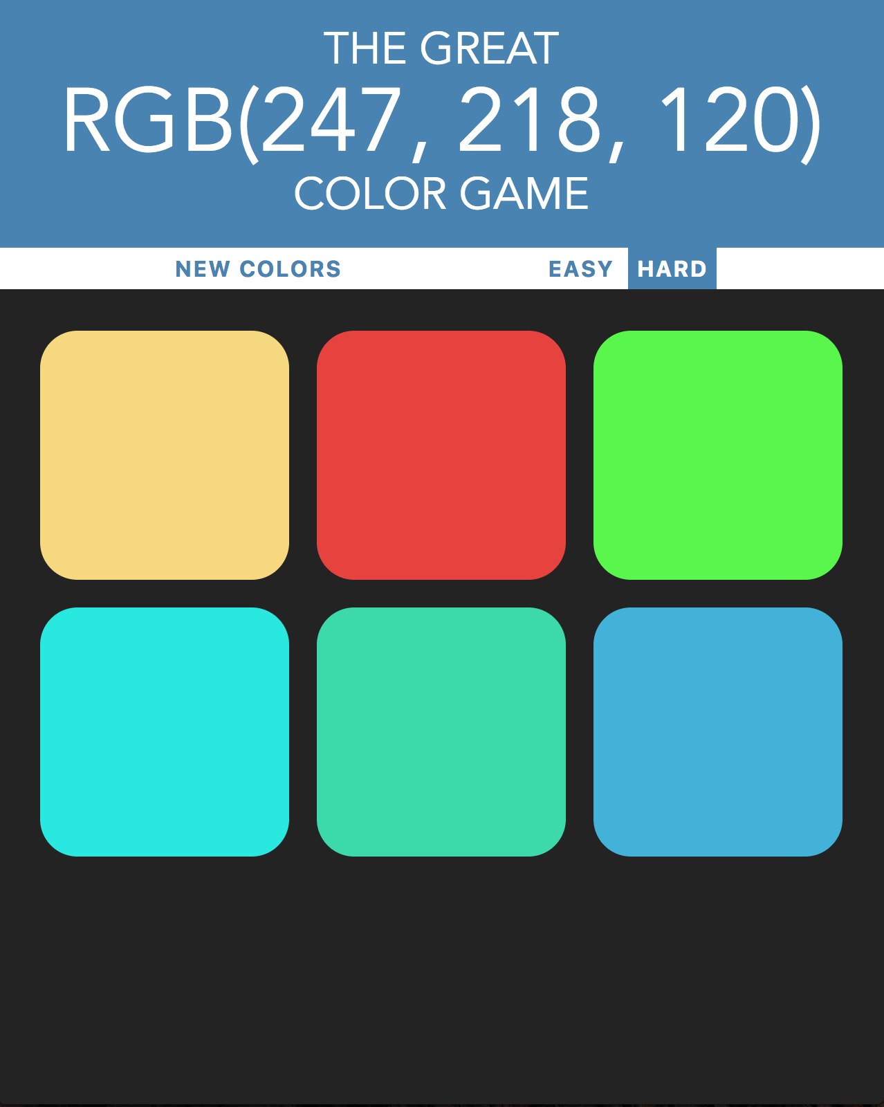 GitHub - hummatli/color-game: Simple color picking game written in ...