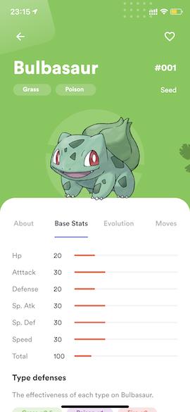 Pokemon Info - Base Stats