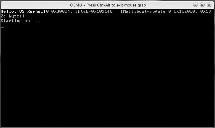 虚拟机里运行的 Hello, OS World!