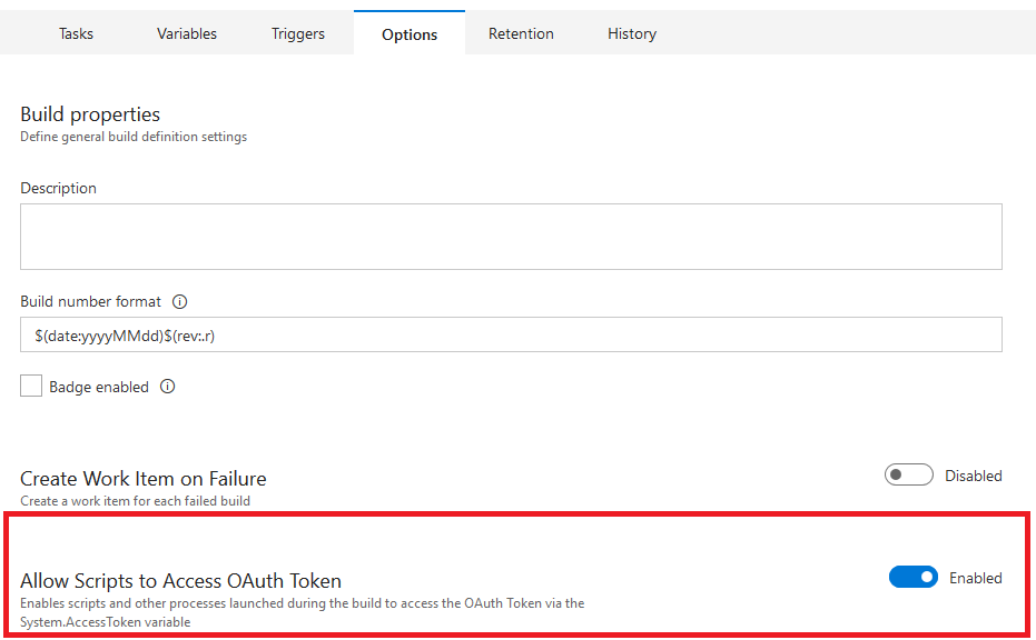 Allow Scripts OAuth Token Access