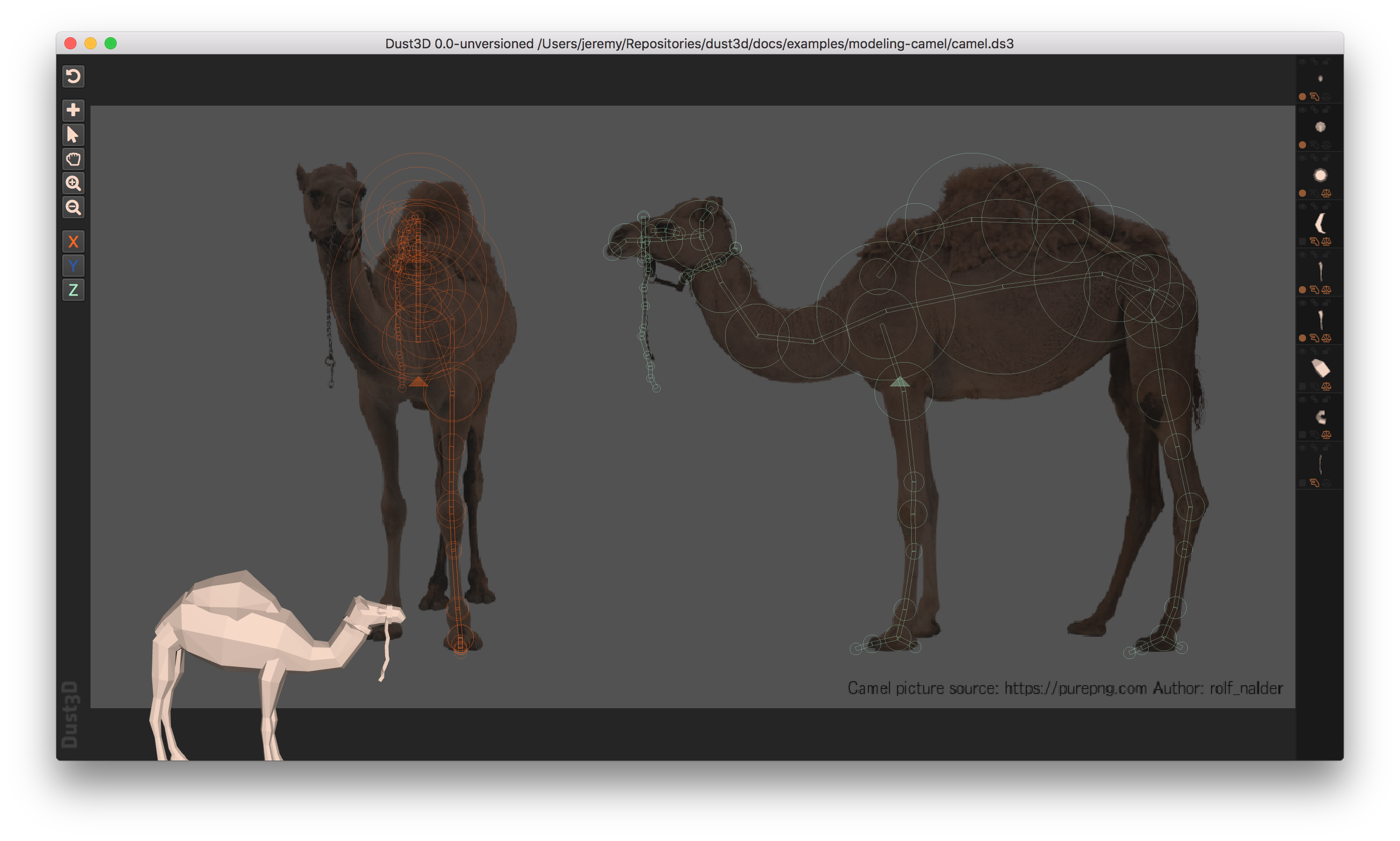 https://raw.githubusercontent.com/huxingyi/dust3d/master/docs/examples/modeling-camel/modeling-camel-dust3d-screenshot.png