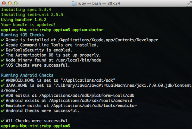 Use appium-doctor to verify settings | appium