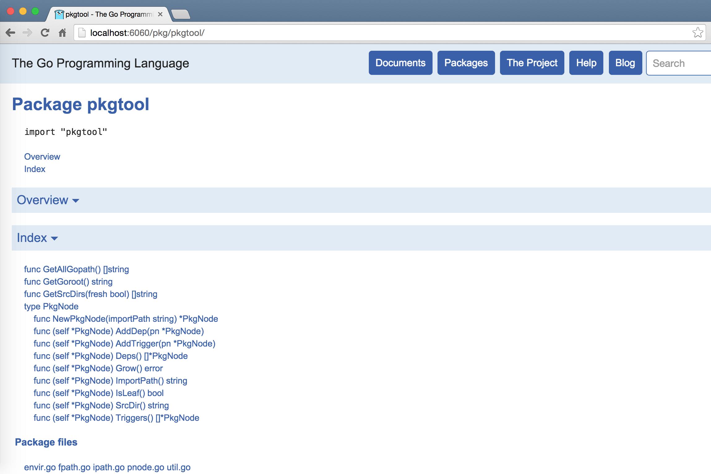 goc2p项目中的pkgtool包的Go文档页面