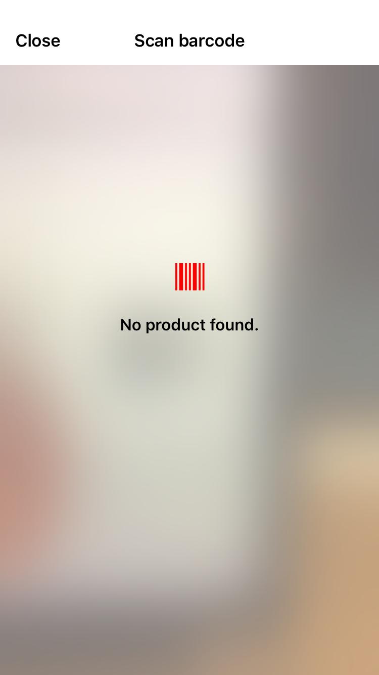 BarcodeScanner error