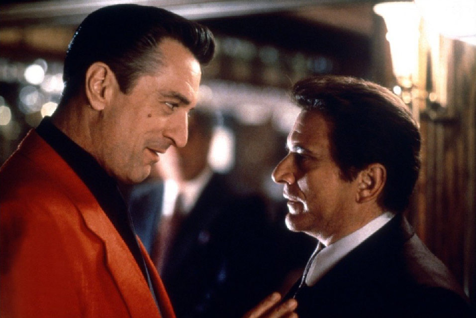 Robert DeNiro and Joe Pesci in the film Casino.