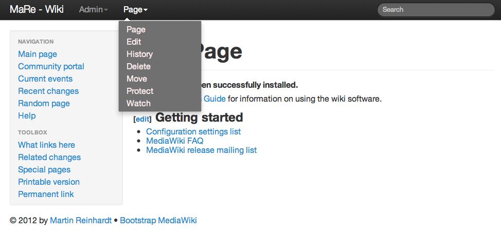 MediaWiki Bootstrap Skin