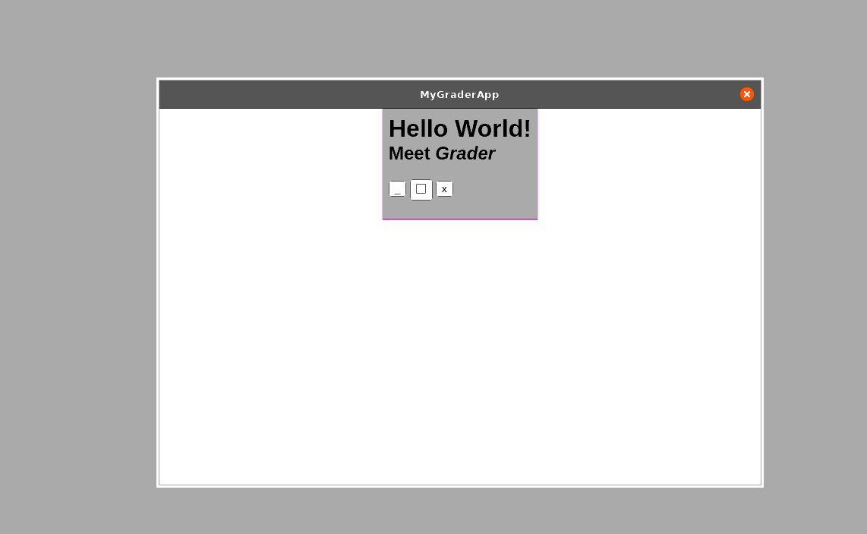 Ubuntu Linux Grader app screenshot