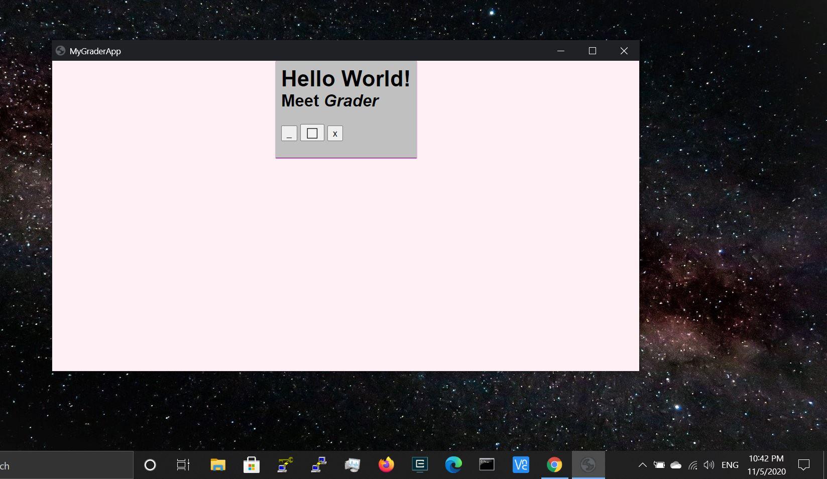 Windows Grader app screenshot